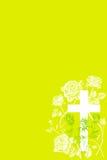 Христианский крест и поднял 3 Стоковые Фотографии RF