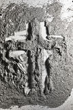 Христианский крест сделанный из золы Стоковые Фотографии RF