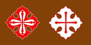 христианский крест Иллюстрация вектора