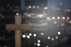 христианский крест Стоковая Фотография