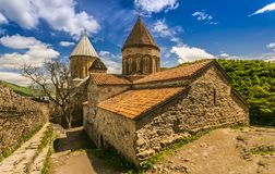 Христианский монастырь в Georgia стоковое изображение rf