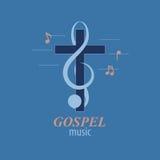 Христианский логотип музыки Стоковые Изображения RF