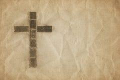 христианский перекрестный пергамент Стоковые Фото