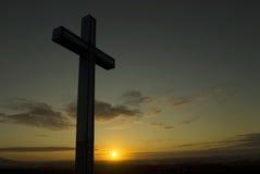 христианский перекрестный силуэт Стоковая Фотография