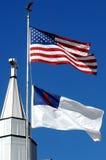 христианский перекрестный флаг Стоковое Изображение