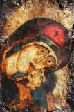 христианский сбор винограда иконы Стоковое фото RF