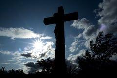 Христианский символ - распятие - взаимная надежда Стоковые Фотографии RF
