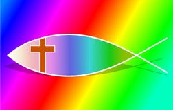 христианский символ рыб Стоковое Фото