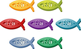христианский символ jesus рыб иллюстрация вектора
