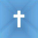 Абстрактный христианский крест Стоковое фото RF