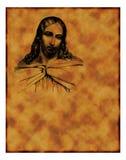 христианский старый пергамент Стоковое фото RF