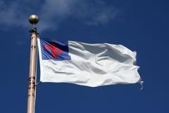 христианский флаг Стоковые Фото