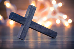 христианское перекрестное деревянное Стоковые Изображения