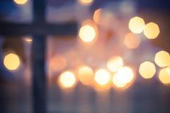 христианское перекрестное деревянное Стоковые Фото