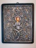 Христианство православной церков церков апостолов Христос значка стоковая фотография rf
