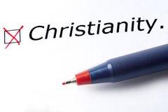 Христианство слова напечатано на белой предпосылке стоковое изображение