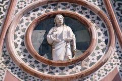 Христос давая благословение, портал собора Флоренса Стоковое Изображение RF