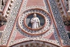 Христос давая благословение, портал собора Флоренса Стоковое Фото