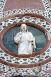 Христос давая благословение, портал собора Флоренса Стоковое фото RF