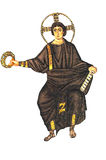 Христос и крона мучеников Стоковое Изображение RF