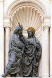 Христос и St. Thomas стоковое фото