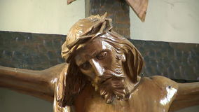 Христос на crosss сток-видео