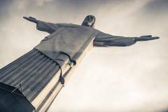 Христос спаситель (Cristo Redentor) в Рио, Бразилии Стоковые Фотографии RF