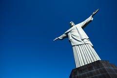 Христос статуя спасителя в Рио-де-Жанейро в Бразилии Стоковые Изображения RF