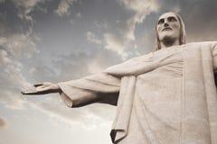 Христос статуя Cristo Redentor спасителя в Рио-де-Жанейро Стоковые Фото