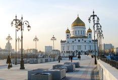 Христос церковь спасителя в Москве, России Стоковые Изображения