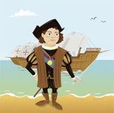 Христофор Колумбус иллюстрация вектора