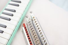 Хроматичные губные гармоники и melodion Стоковые Фото