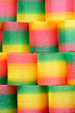 Хроматичные игрушки пластмассы Стоковая Фотография