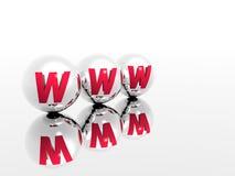 хроматичный www Стоковое Фото