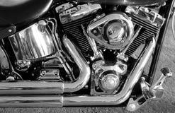 Хромий покрыл тип фото v запаса двигателя мотоцилк стоковая фотография rf