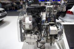 Хром двигателя автомобиля Стоковые Изображения RF