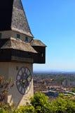 хронометрируйте башню graz Стоковые Изображения