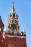 Хронометрируйте перезвоны башни Spassky Москвы Кремля Стоковое Изображение