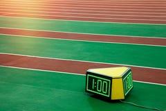 Хронометр секундомера бегуна Стоковое Изображение