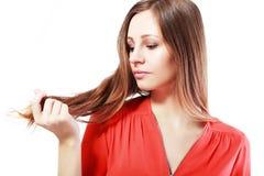 Хрупкие волосы Стоковая Фотография