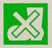 хрупкий символ на картоне. Стоковое Изображение RF