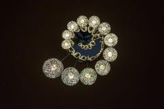 Хрустальная люстра в спиральной картине Стоковое Фото