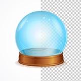 Хрустальный шар вектора пустой голубой иллюстрация штока