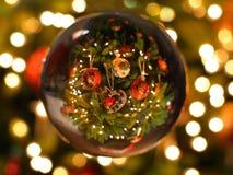 Хрустальный шар рождества Стоковое фото RF