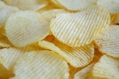 Хрустящая текстура закуски картофельных чипсов стоковое изображение