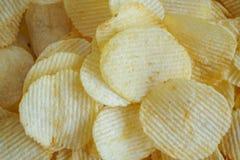 Хрустящая текстура закуски картофельных чипсов стоковые изображения rf
