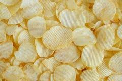Хрустящая текстура закуски картофельных чипсов стоковое фото