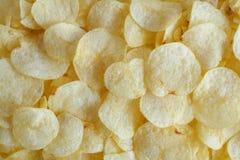 Хрустящая текстура закуски картофельных чипсов стоковая фотография rf