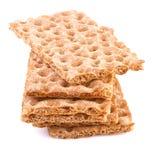 Хрустящий хлеб изолированный на белой предпосылке Стоковые Фото