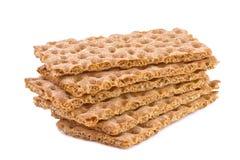 Хрустящий хлеб изолированный на белизне Стоковые Фотографии RF